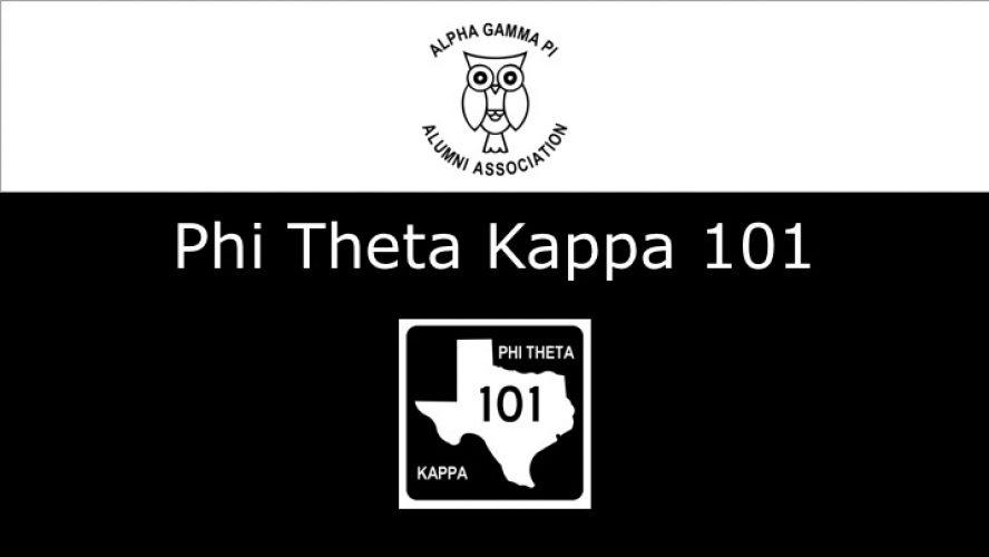 Phi Theta Kappa 101